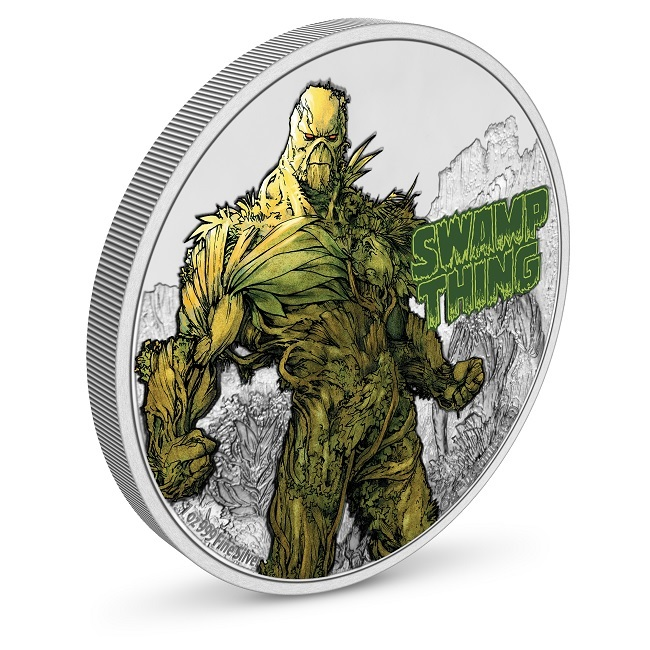 (W160.2.D.2021.NUAG100ST) 2 $ Niue 2021 1 oz Proof Ag - Swamp Thing (view on reverse) (zoom)