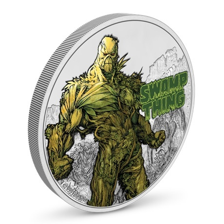 (W160.2.D.2021.NUAG100ST) 2 $ Niue 2021 1 oz argent BE - La Créature du marais (vue sur revers)