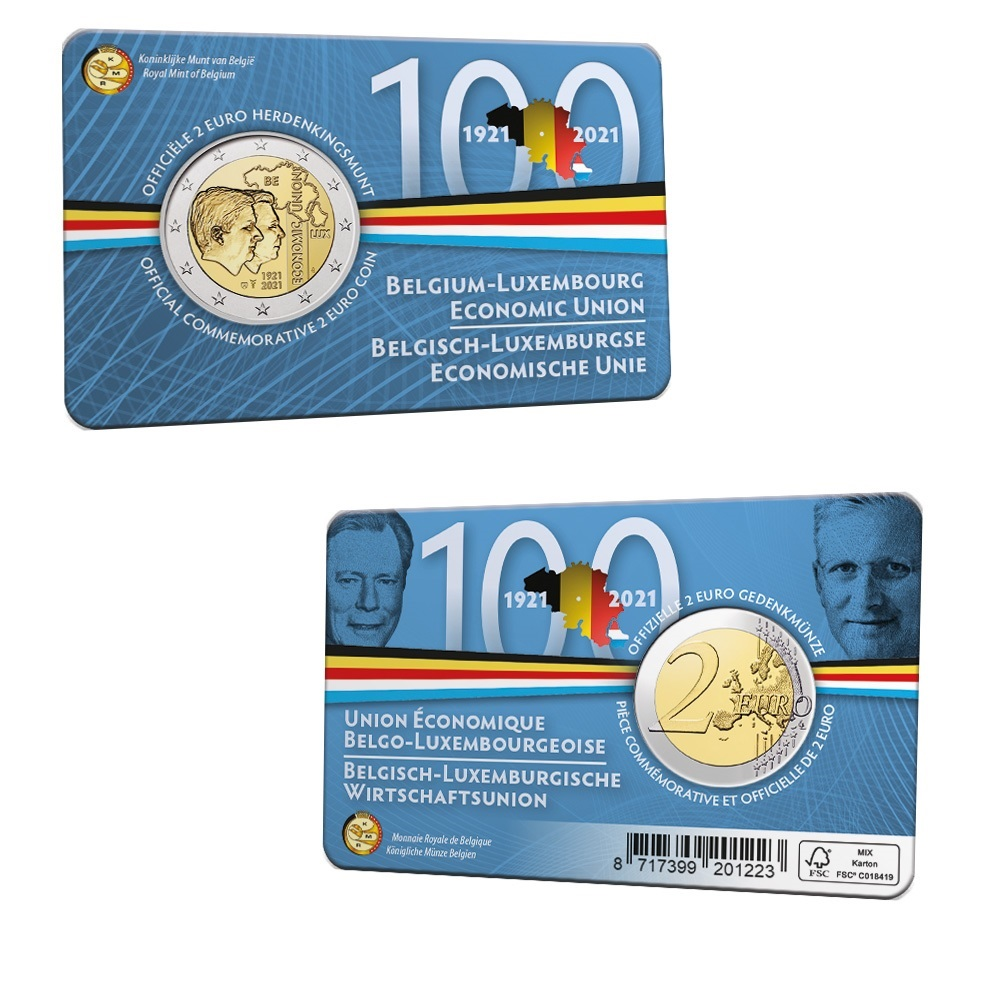 (EUR02.BU.2021.0110320) 2 € Belgium 2021 BU - BLEU - Flemish legend (card) (zoom)