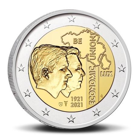(EUR02.BU.2021.0110320) 2 euro Belgique 2021 BU - UEBL - Légende flamande Avers