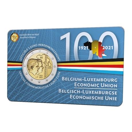 (EUR02.BU.2021.0110320) 2 euro Belgique 2021 BU - UEBL - Légende flamande Recto