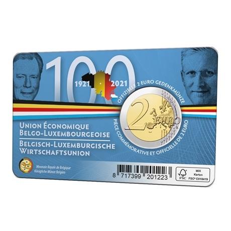 (EUR02.BU.2021.0110320) 2 euro Belgique 2021 BU - UEBL - Légende flamande Verso