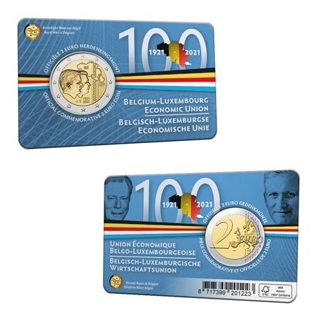 (EUR02.BU.2021.0110320) 2 euro Belgique 2021 BU - UEBL - Légende flamande (carte)