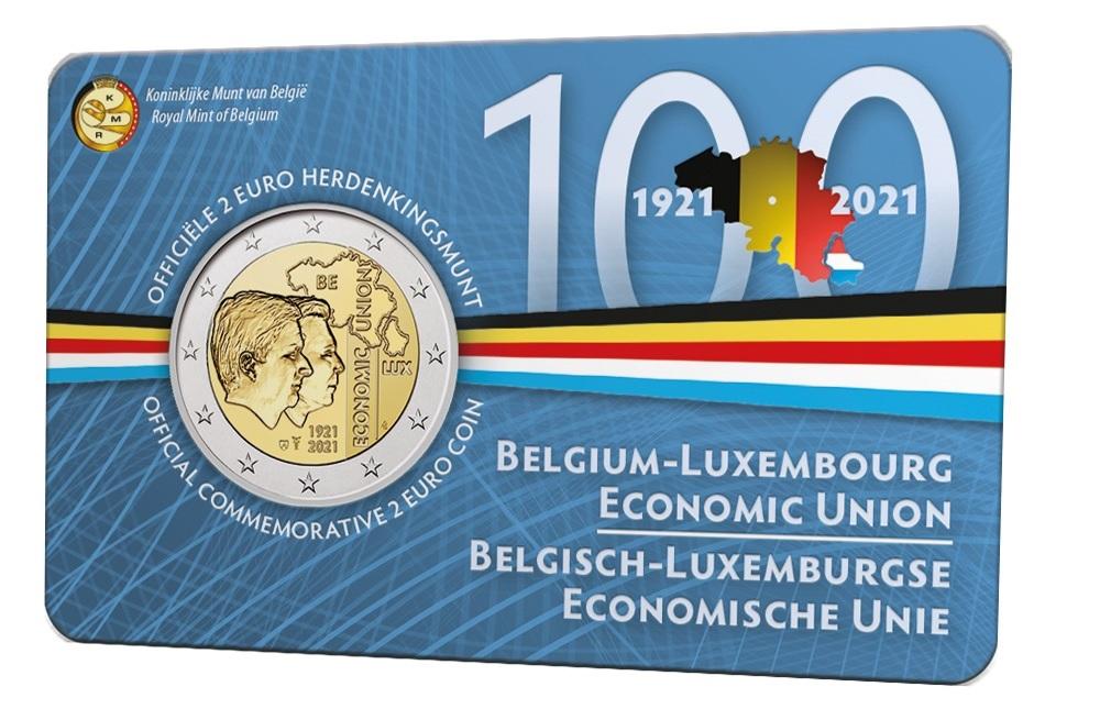 (EUR02.BU.2021.0110320) 2 euro Belgium 2021 BU - BLEU - Flemish legend Front (zoom)