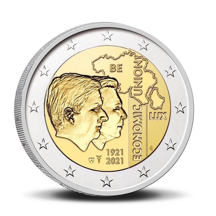 (EUR02.BU.2021.0110320) 2 euro Belgium 2021 BU - BLEU - Flemish legend Obverse (zoom)