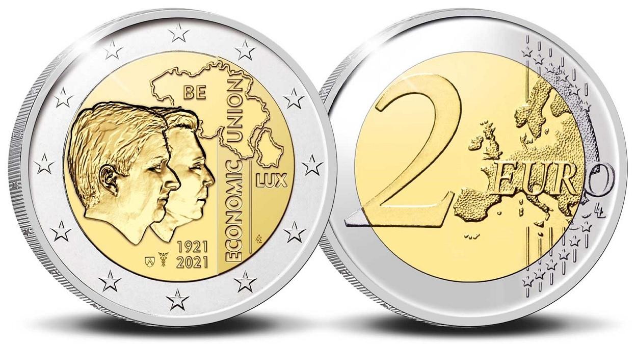 (EUR02.Proof.2021.0110350) 2 € Belgium 2021 Proof - BLEU (zoom)