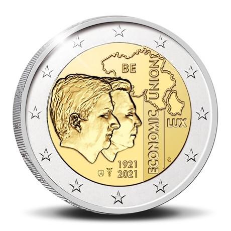 (EUR02.Proof.2021.0110350) 2 euro commémorative Belgique 2021 BE - UEBL Avers
