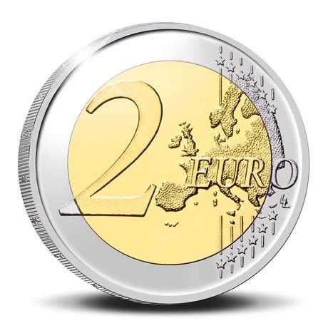 (EUR02.Proof.2021.0110350) 2 euro commémorative Belgique 2021 BE - UEBL Revers