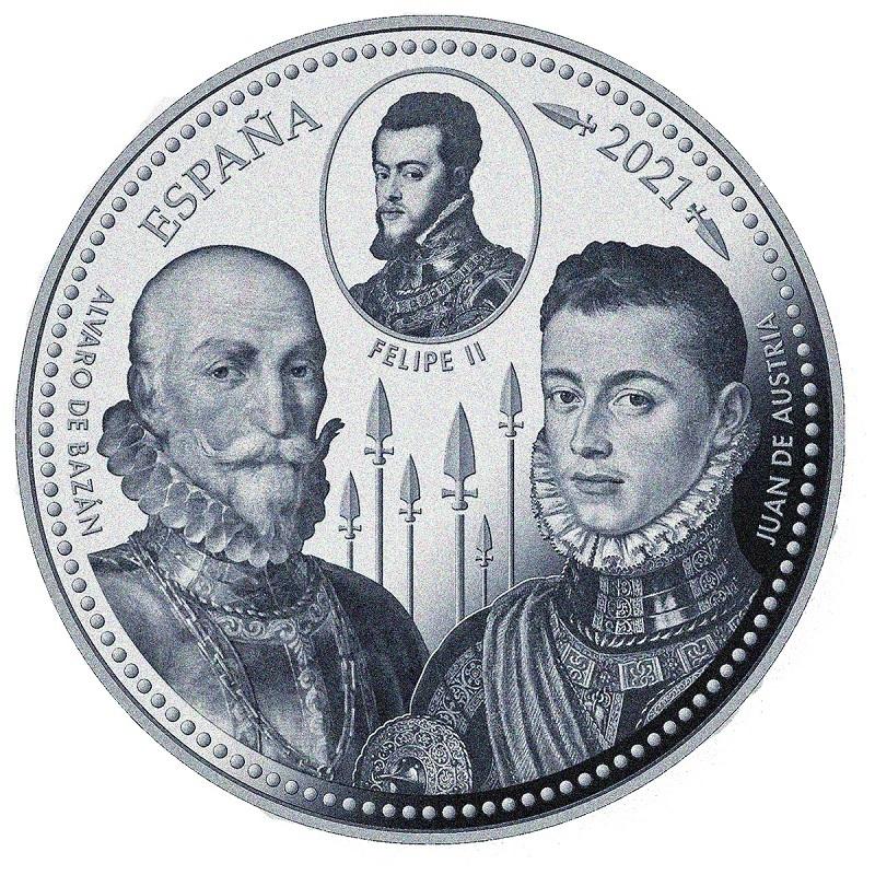 (EUR05.Proof.2021.92917005) 50 euro Spain 2021 Proof silver - Battle of Lepanto Obverse (zoom)