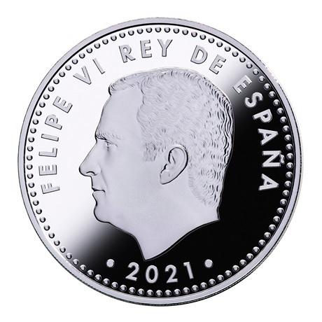 (EUR05.Proof.2021.92917006) 10 euro Espagne 2021 argent BE - Bataille de Lépante Avers