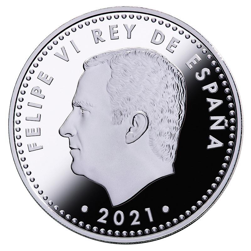 (EUR05.Proof.2021.92917006) 10 euro Spain 2021 Proof silver - Battle of Lepanto Obverse (zoom)