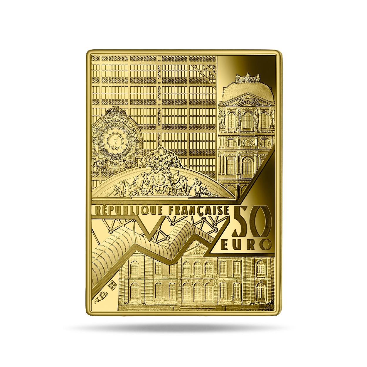 (EUR07.Proof.2021.10041356350000) 50 euro France 2021 Proof gold - Johannes Vermeer Obverse (zoom)