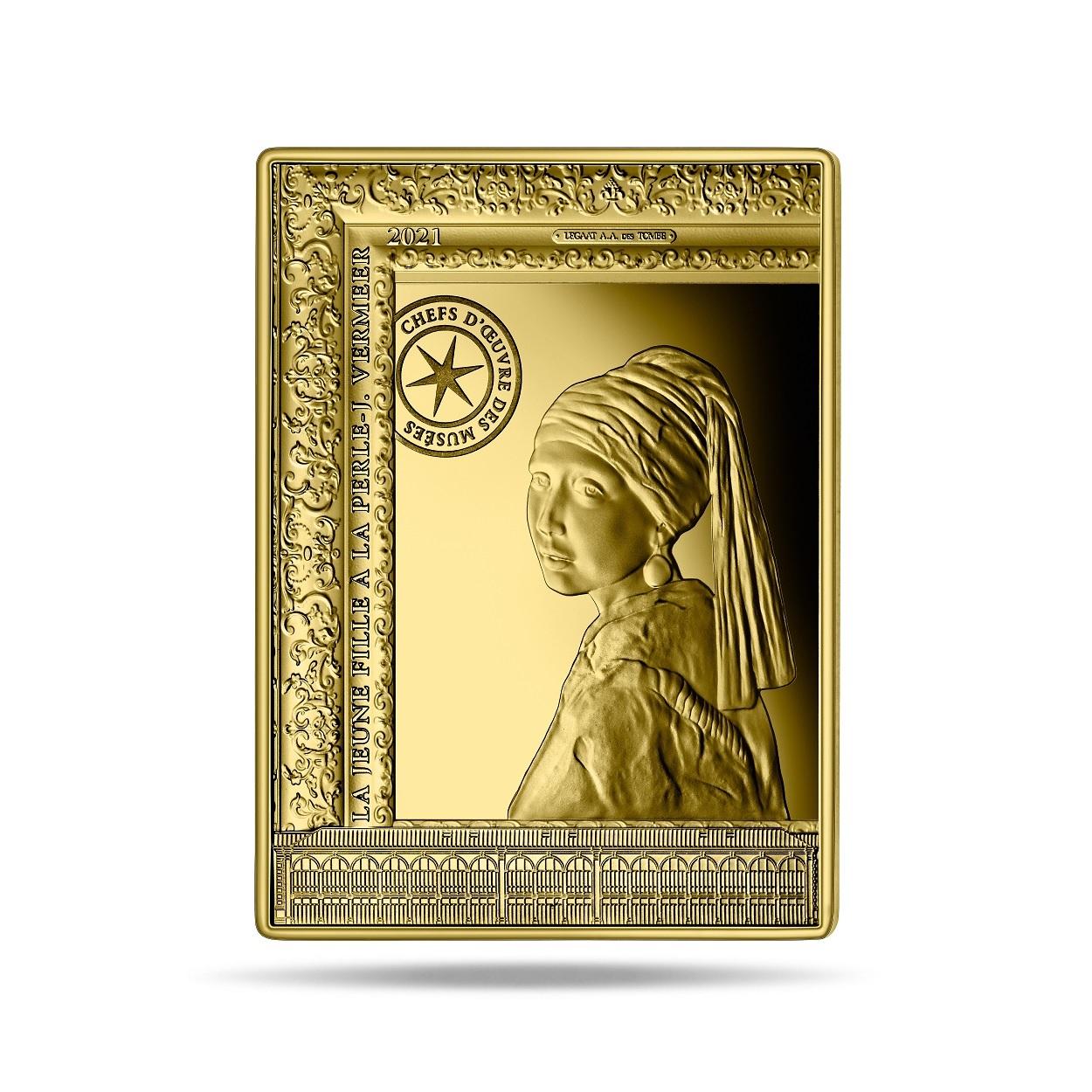 (EUR07.Proof.2021.10041356350000) 50 euro France 2021 Proof gold - Johannes Vermeer Reverse (zoom)