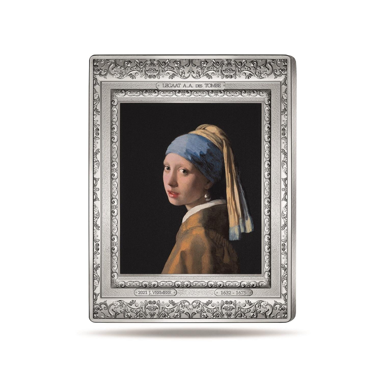 (EUR07.Proof.2021.10041356360000) 250 euro France 2021 Proof Ag - Johannes Vermeer Reverse (zoom)