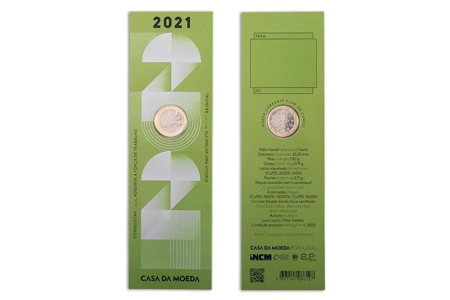 (EUR15.FDC.2021.1022809) Bookmark 1 euro Portugal 2021 FDC - Graduation (zoom)