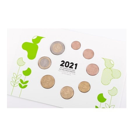 (EUR15.FDC.set.2021.1022807) Coffret FDC Portugal 2021 - Naissance (avers)