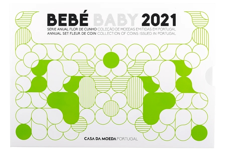 (EUR15.FDC.set.2021.1022807) Uncirculated coin set Portugal 2021 - Baby birth (zoom)
