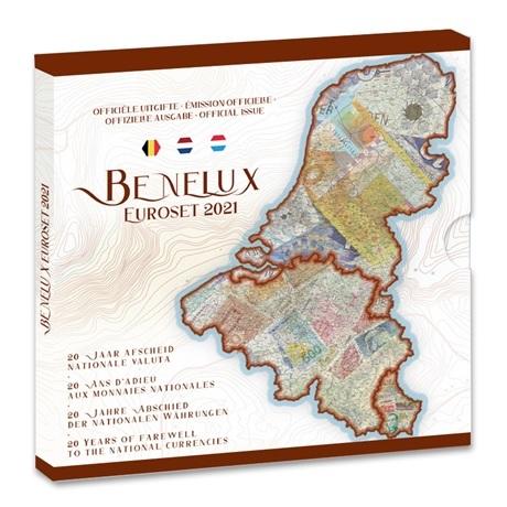 (EUR23.BU.set.2021.0110786) Coffret BU Benelux 2021 (les monnaies avant euro)