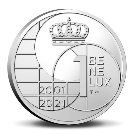 (EUR23.BU.set.2021.0110786) Coffret BU Benelux 2021 (les monnaies avant l'euro) (avers médaille)
