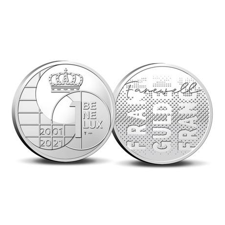 (EUR23.BU.set.2021.0110786) Coffret BU Benelux 2021 (les monnaies avant l'euro) (médaille)