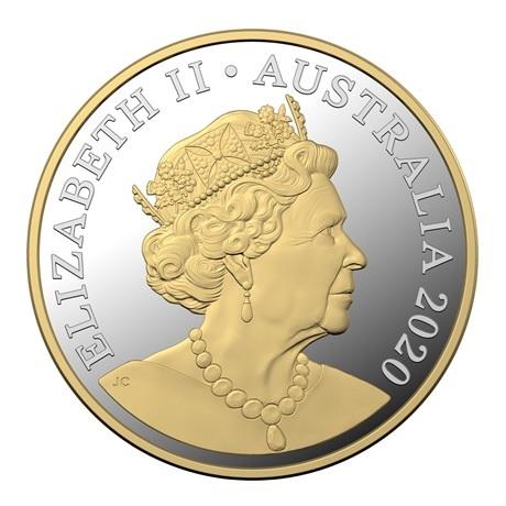 (W017.1.D.2020.10359) 1 Dollar Kangourous 2020 - Argent BE Avers