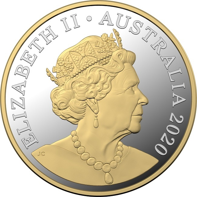 (W017.1.D.2020.10359) 1 Dollar Mob of roos 2020 - Proof silver Obverse (zoom)