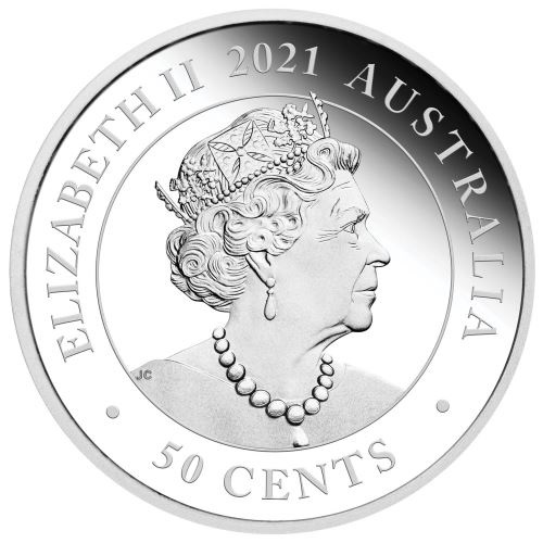 (W017.50.C.2021.21I57AAA) 50 Cents Australia 2021 0.50 oz Proof silver - Dingo Obverse (zoom)