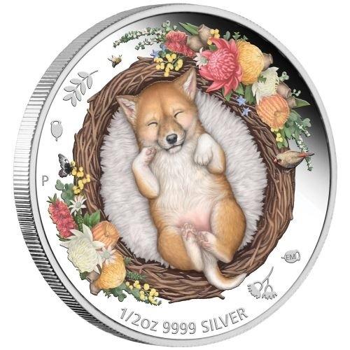 (W017.50.C.2021.21I57AAA) 50 Cents Australia 2021 0.50 oz Proof silver - Dingo Reverse (zoom)