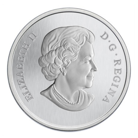 (W037.25.C.2012.118104) 25 Cents Bourdon et aster 2012 BU Avers