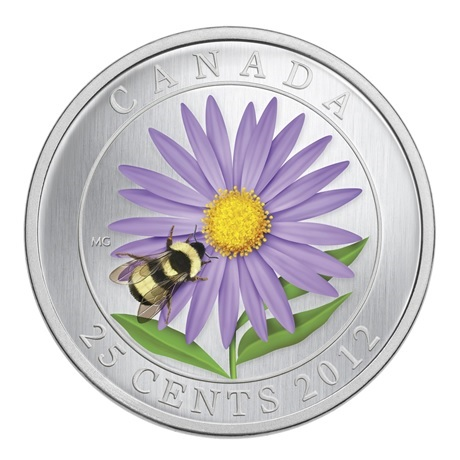 (W037.25.C.2012.118104) 25 Cents Bourdon et aster 2012 BU Revers