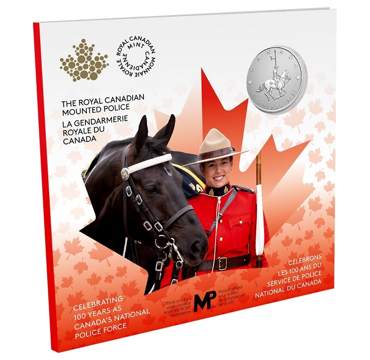 (W037.5.D.2020.176786) 5 Dollars RCMP Canada National Police Force 2020 - BU silver Front (zoom)