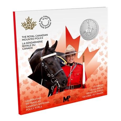 (W037.5.D.2021.176786) 5 Dollars Gendarmerie royale du Canada 2020 - Argent BU Recto