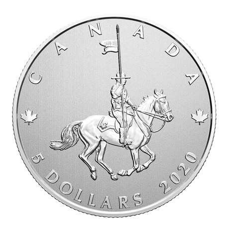 (W037.5.D.2021.176786) 5 Dollars Gendarmerie royale du Canada 2020 - Argent BU Revers