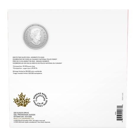 (W037.5.D.2021.176786) 5 Dollars Gendarmerie royale du Canada 2020 - Argent BU Verso