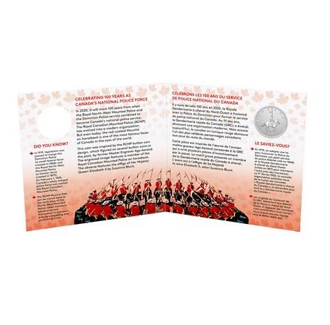 (W037.5.D.2021.176786) 5 $ Gendarmerie royale du Canada 2020 - Ag BU (intérieur)