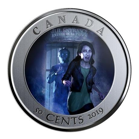 (W037.50.C.2019.174392) 50 Cents Auberge HI Ottawa Jail 2019 BU Revers (grille fermée)