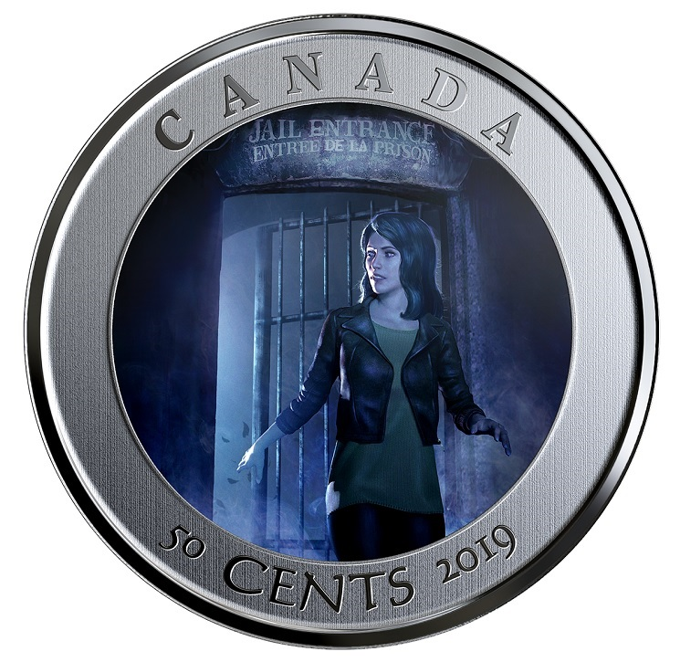 (W037.50.C.2019.174392) 50 Cents HI Ottawa Jail Hostel 2019 BU Reverse (open gate) (zoom)