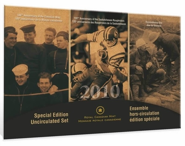 (W037.Unc.set.2010.112032) Uncirculated coin set Canada 2010 (Canadian Navy) (zoom)