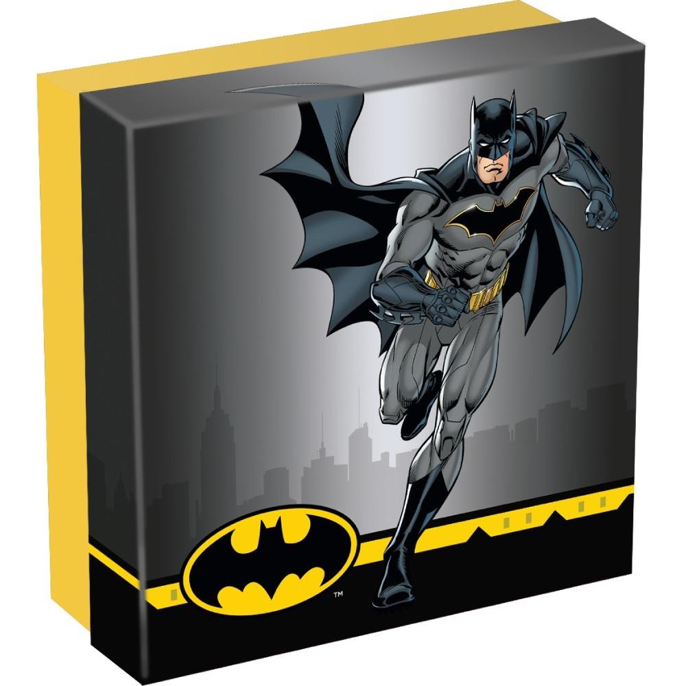 (W099.10.D.2021.CK0550) 10 Dollars Cook Islands 2021 2 oz Antique Ag - Batman (box) (zoom)