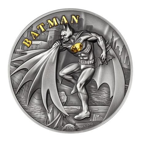 (W099.10.D.2021.CK0550) 10 Dollars Iles Cook 2021 2 onces argent Antique - Batman Revers