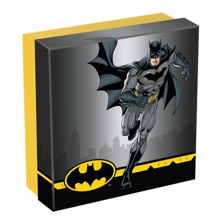 (W099.10.D.2021.CK0550) 10 Dollars Iles Cook 2021 2 oz argent Antique - Batman (boîte)