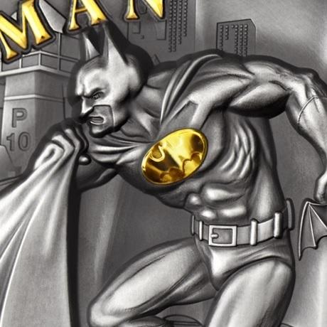 (W099.10.D.2021.CK0550) 10 $ Iles Cook 2021 2 oz argent Antique - Batman