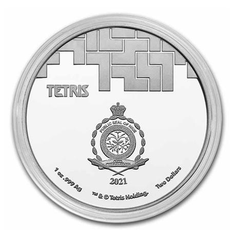 (W160.2.D.2021.1.oz.Ag.8) 2 Dollars Niue 2021 1 once Ag BE - Tetris Avers (capsule)
