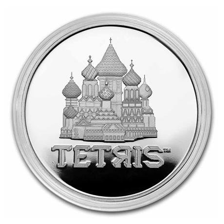 (W160.2.D.2021.1.oz.Ag.8) 2 Dollars Niue 2021 1 once Ag BE - Tetris Revers (capsule)
