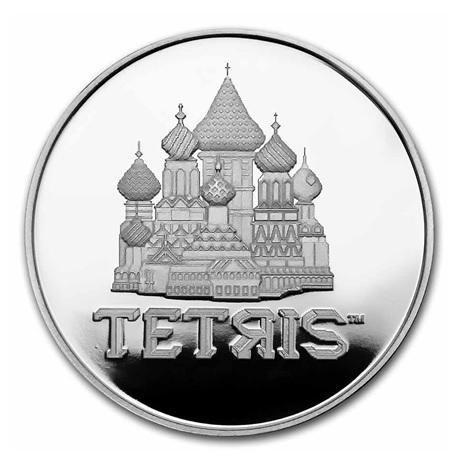 (W160.2.D.2021.1.oz.Ag.8) 2 Dollars Niue 2021 1 once Ag BE - Tetris Revers