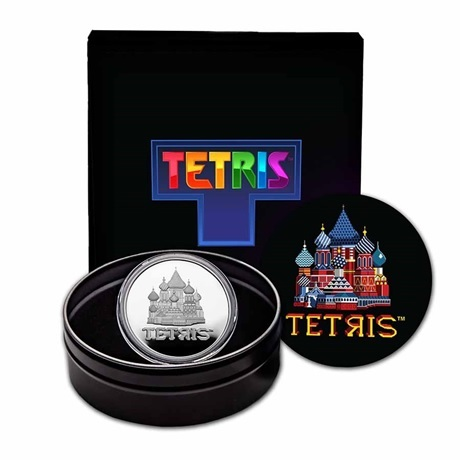 (W160.2.D.2021.1.oz.Ag.8) 2 Dollars Niue 2021 1 once argent BE - Tetris (packaging)