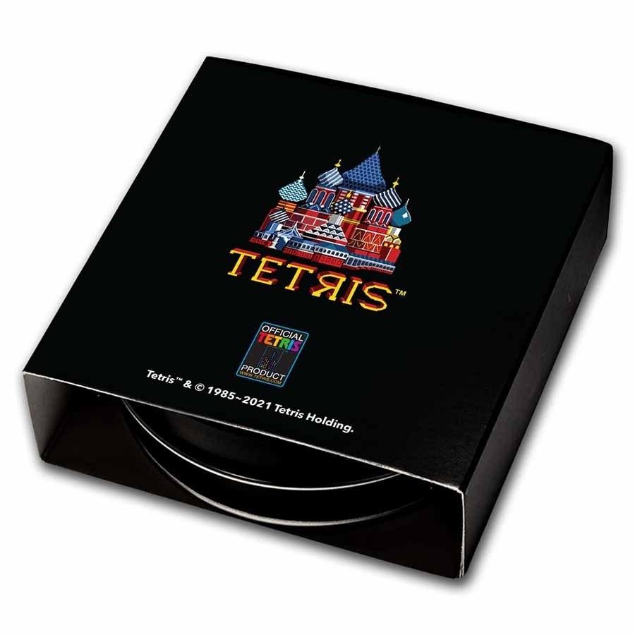 (W160.2.D.2021.1.oz.Ag.8) 2 Dollars Niue 2021 1 ounce Proof Ag - Tetris Back (zoom)
