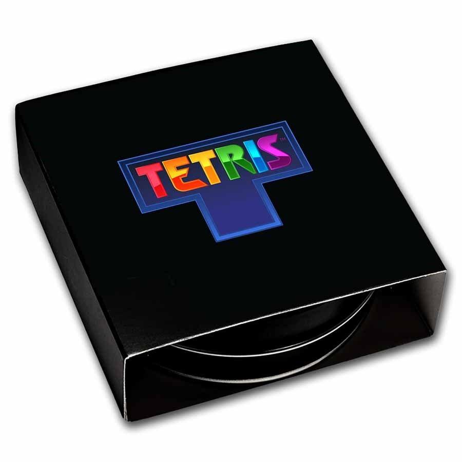(W160.2.D.2021.1.oz.Ag.8) 2 Dollars Niue 2021 1 ounce Proof Ag - Tetris Front (zoom)