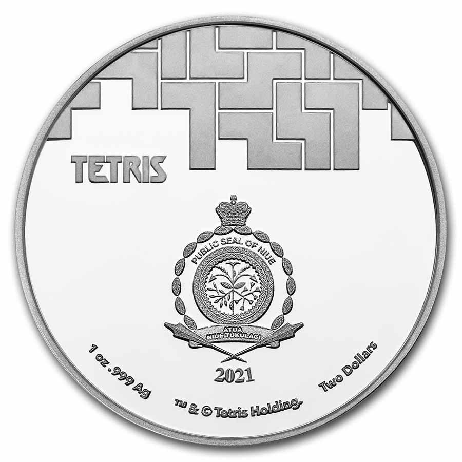 (W160.2.D.2021.1.oz.Ag.8) 2 Dollars Niue 2021 1 oz Proof silver - Tetris Obverse (zoom)