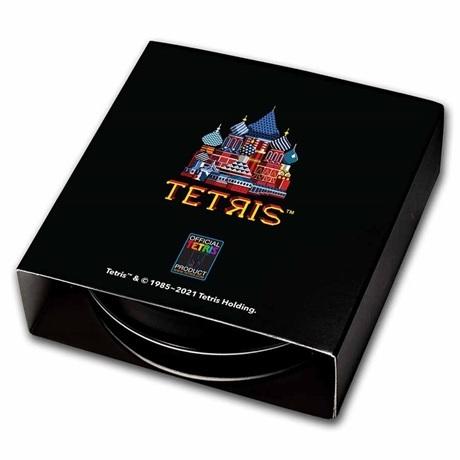 (W160.2.D.2021.1.oz.Ag.8) 2 Dollars Niue 2021 1 oz argent BE - Tetris Verso
